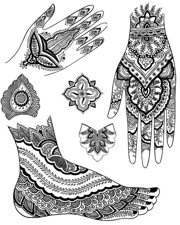 Mehndi clipart zentangle Drawing Book  Mehndi