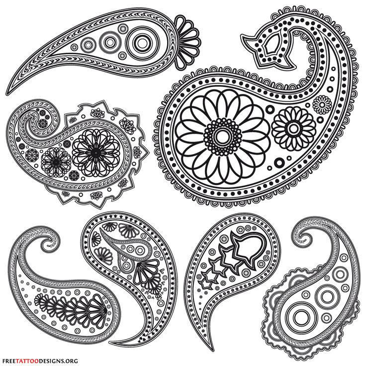 Drawn simple henna On Patterns patterns and Printable