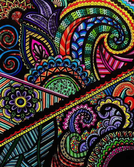 Drawn rainbow colour And colorful henna this on