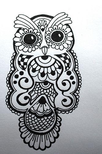 Drawn mehndi fast Pinterest about best owl on