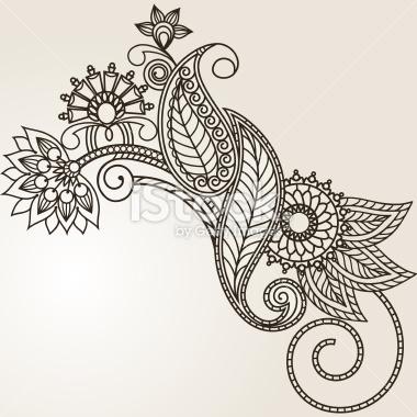 Drawn mehndi hand Hand Vector Flowers Free Drawn