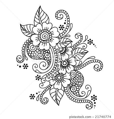 Drawn mehndi hand Hand Mehndi Drawn Ornament