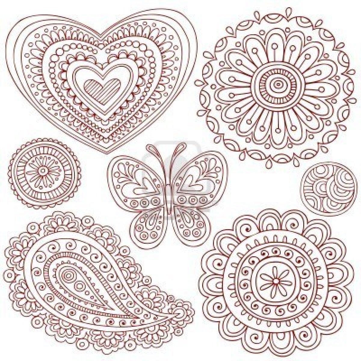 Drawn mehndi hand 6807551 hand flower butterfly mehndi