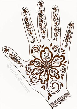 Drawn mehndi hindu Portrait Hand a Lesson Designs