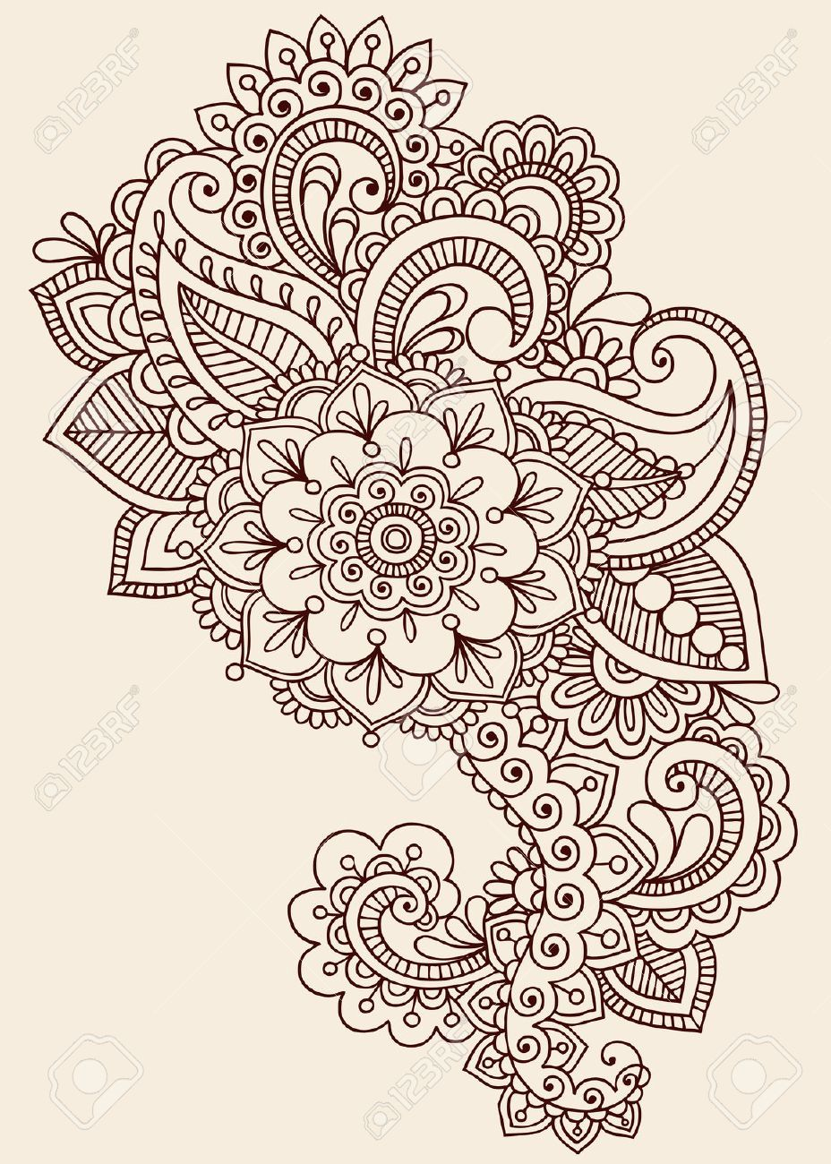 Drawn mehndi intricate Royalty Design Tattoo Abstract Abstract