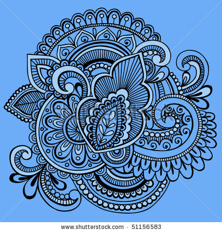 Drawn mehndi intricate Vector Paisley Intricate Tattoo Doodle