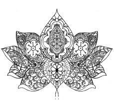 Drawn mehndi lotus flower Best lotus flower Lotus Pinterest