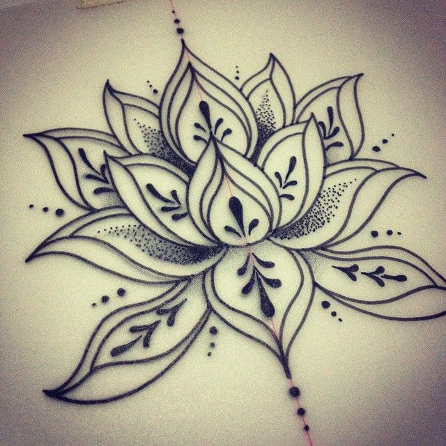 Drawn mehndi lotus flower Ideas HennaLotus simple Pinterest designs