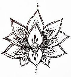 Drawn mehndi lotus flower Flower Tattoo Hand Lotus Lotus