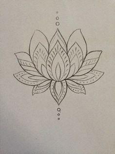 Drawn mehndi lotus flower Lotus flower & Pinterest Padma