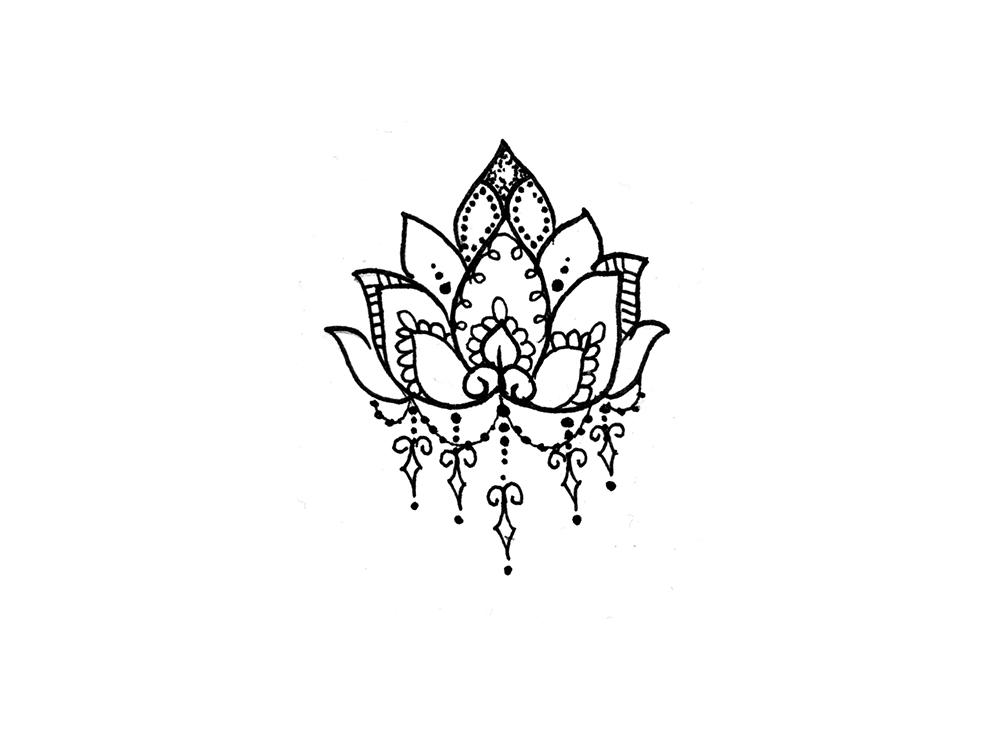 Drawn mehndi lotus flower Sun Temporary Pinterest Lotus ideas