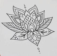 Drawn mehndi lotus flower Buscar @ que LOTUS Google