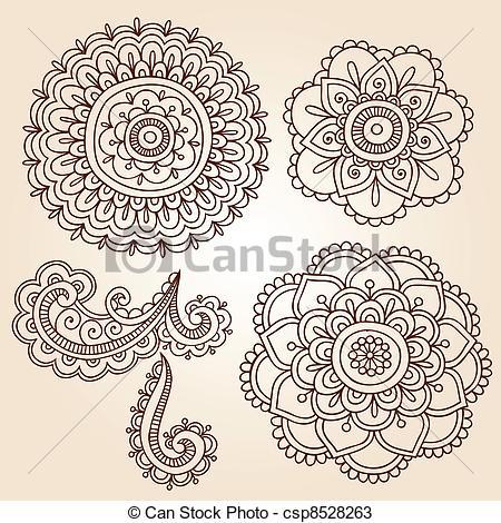 Drawn mehndi Mehndi Vector Henna  Vectors
