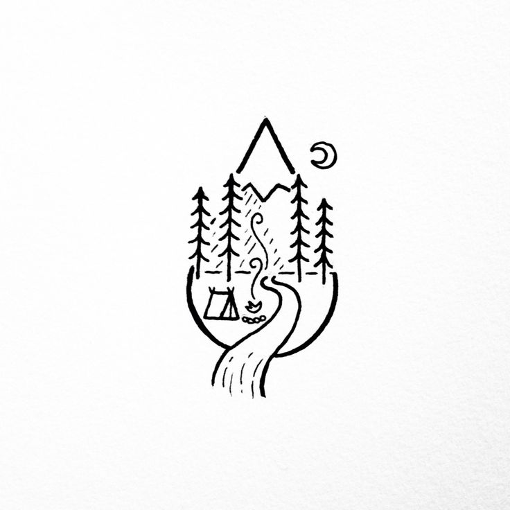 Drawn campfire Ideas  simple Best on