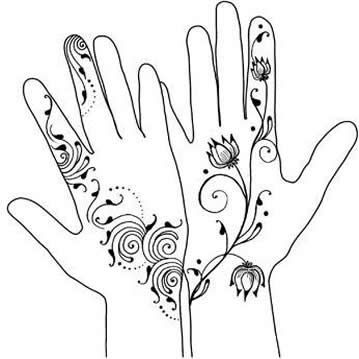 Drawn simple henna Designs Henna Intermediate Henna mehndi