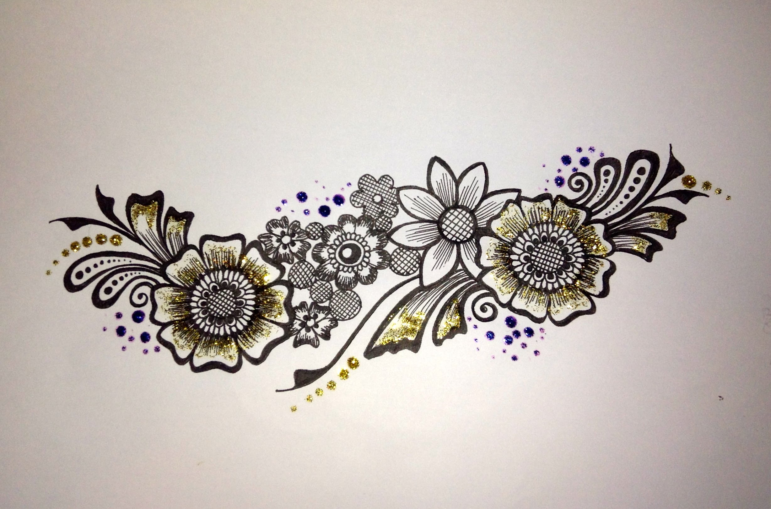Drawn mehndi sketch Flower Mehndi YouTube drawing: strip