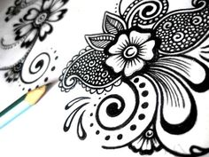 Drawn mehndi sketch Henna ViewFromTheEdge 50  Mehndi