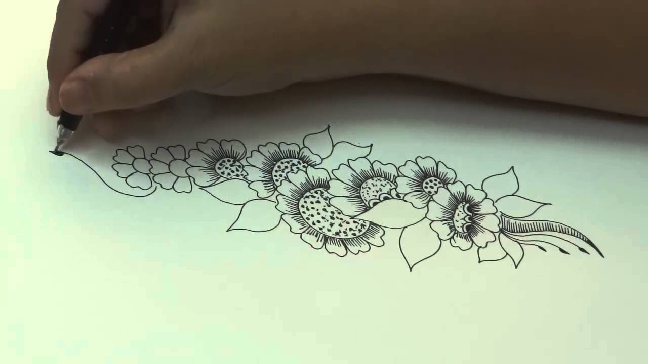 Drawn mehndi sketch And Mehendi Sketch Design Sketch