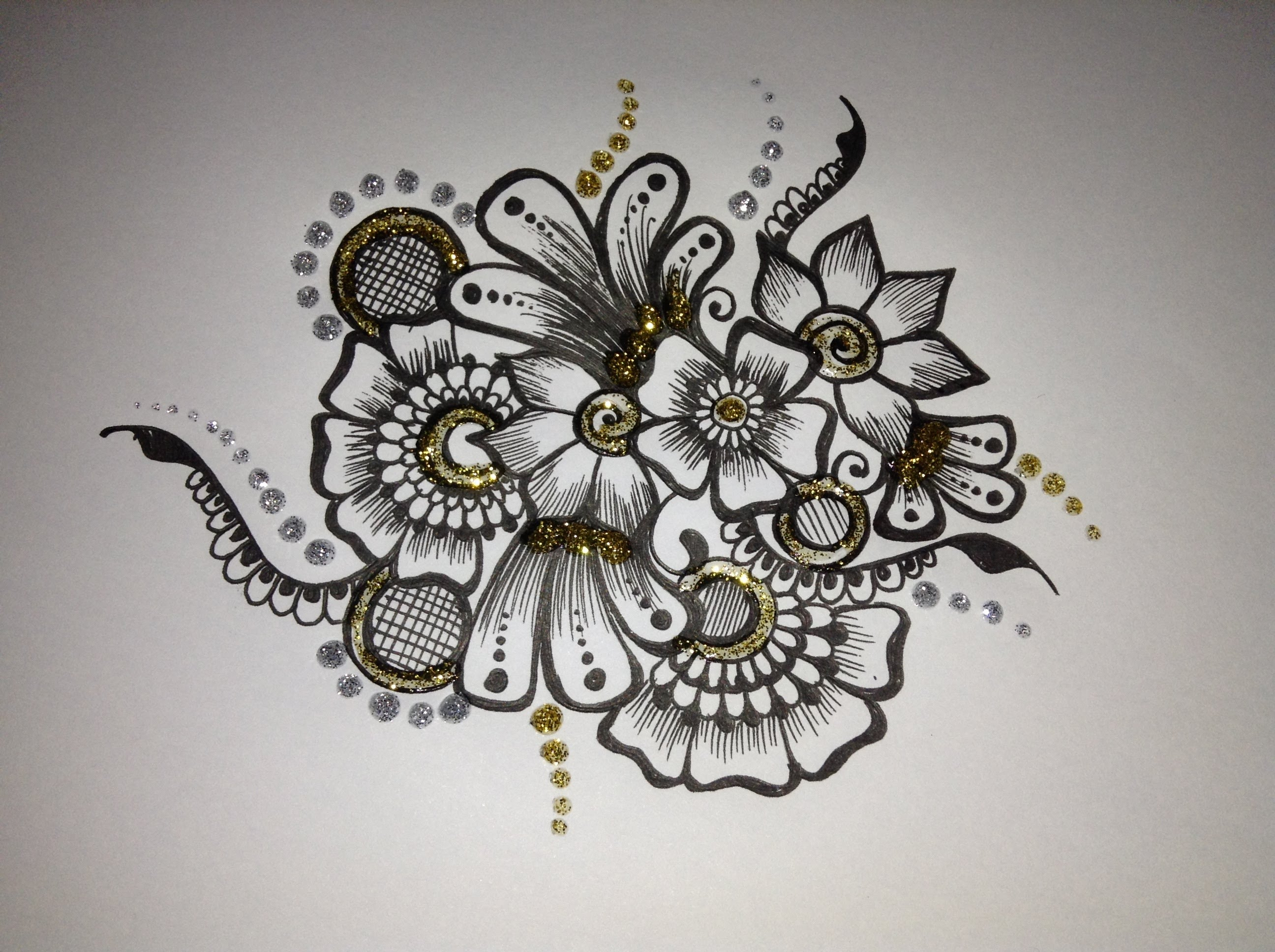 Drawn mehndi sketch Flower Mehndi motif drawing: motif