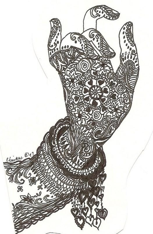 Drawn mehndi sketch Printable Pinterest Mehndi images on