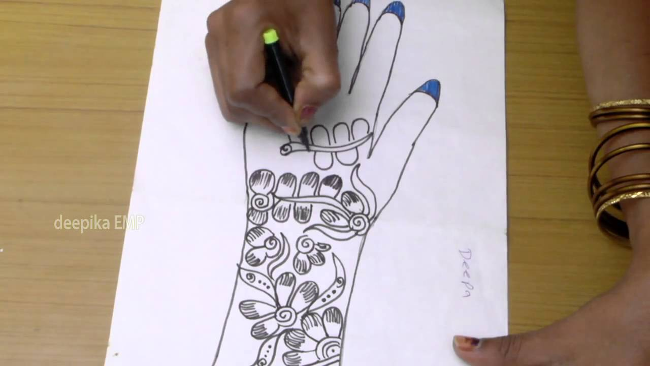 Drawn mehndi step by step YouTube by Deepika To To
