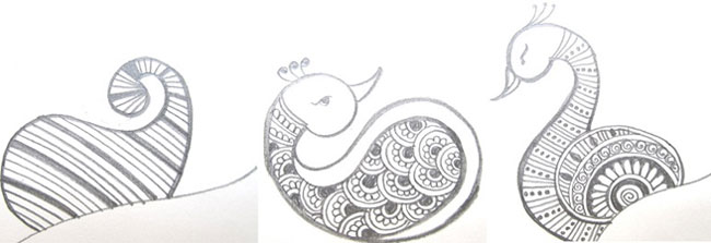 Drawn mehndi step by step Draw Step How to and