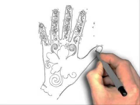 Drawn mehndi step by step Step step How Draw mehndi
