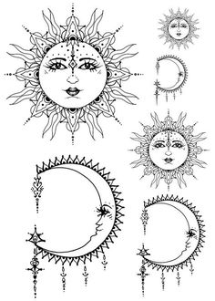 Drawn mehndi sun 12 Google and Search moon