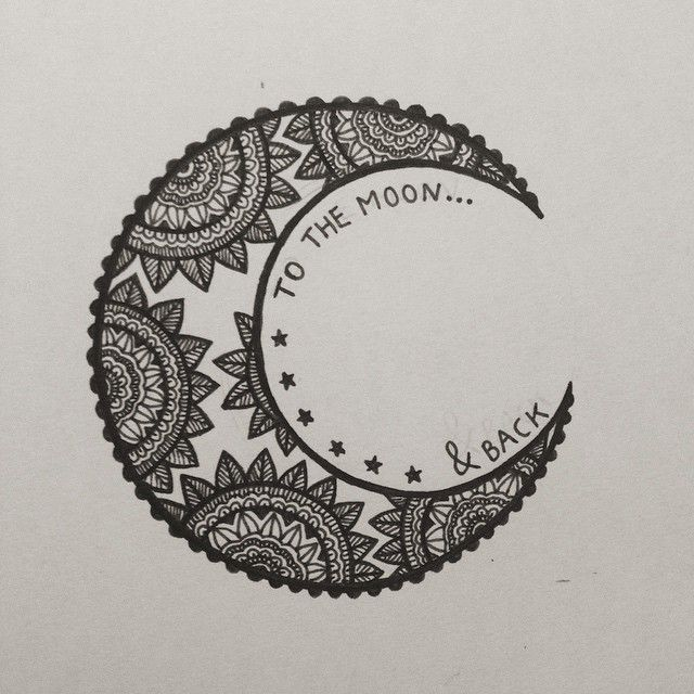 Drawn mehndi sun Hand aztec moon design &