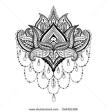 Drawn mehndi sun By TattoosHenna · Pin Paisley