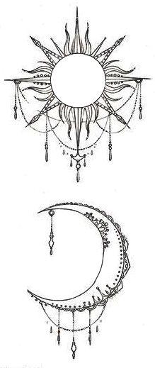 Drawn mehndi sun Hennas zentangle moon Pinterest &