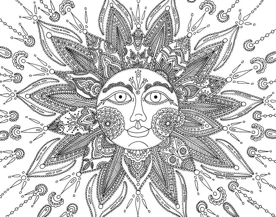 Drawn mehndi sun Drawing  Mehndi