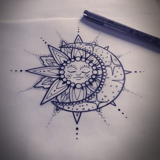 Drawn mehndi sun Would That Henna You Tattoo