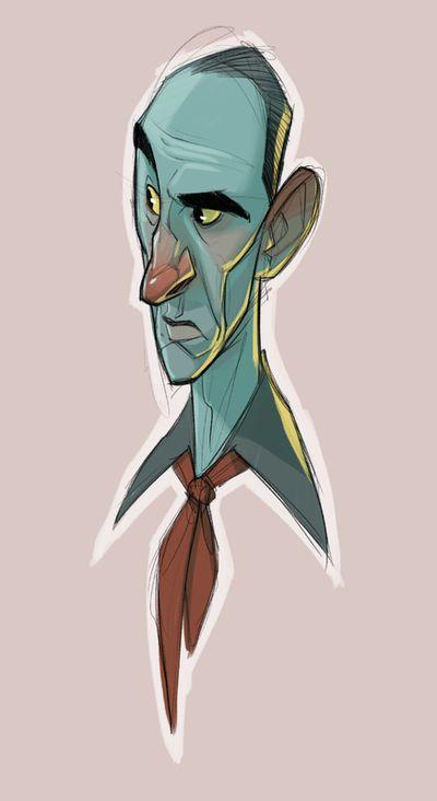 Drawn men character design #12