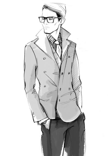 Drawn men cool man #6
