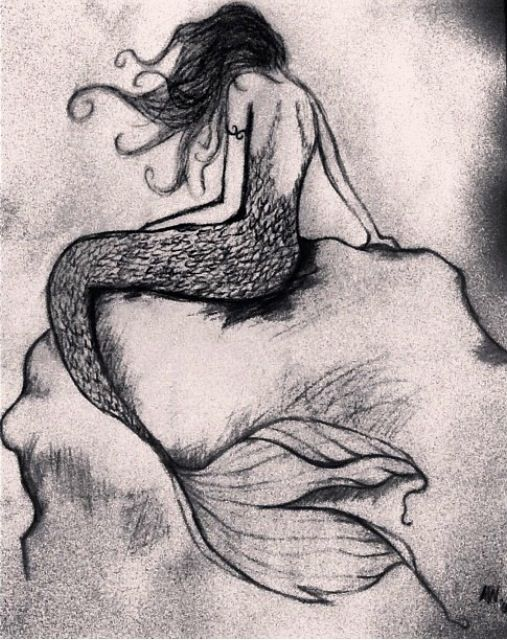 Drawn mermaid For and  Drawing Draw