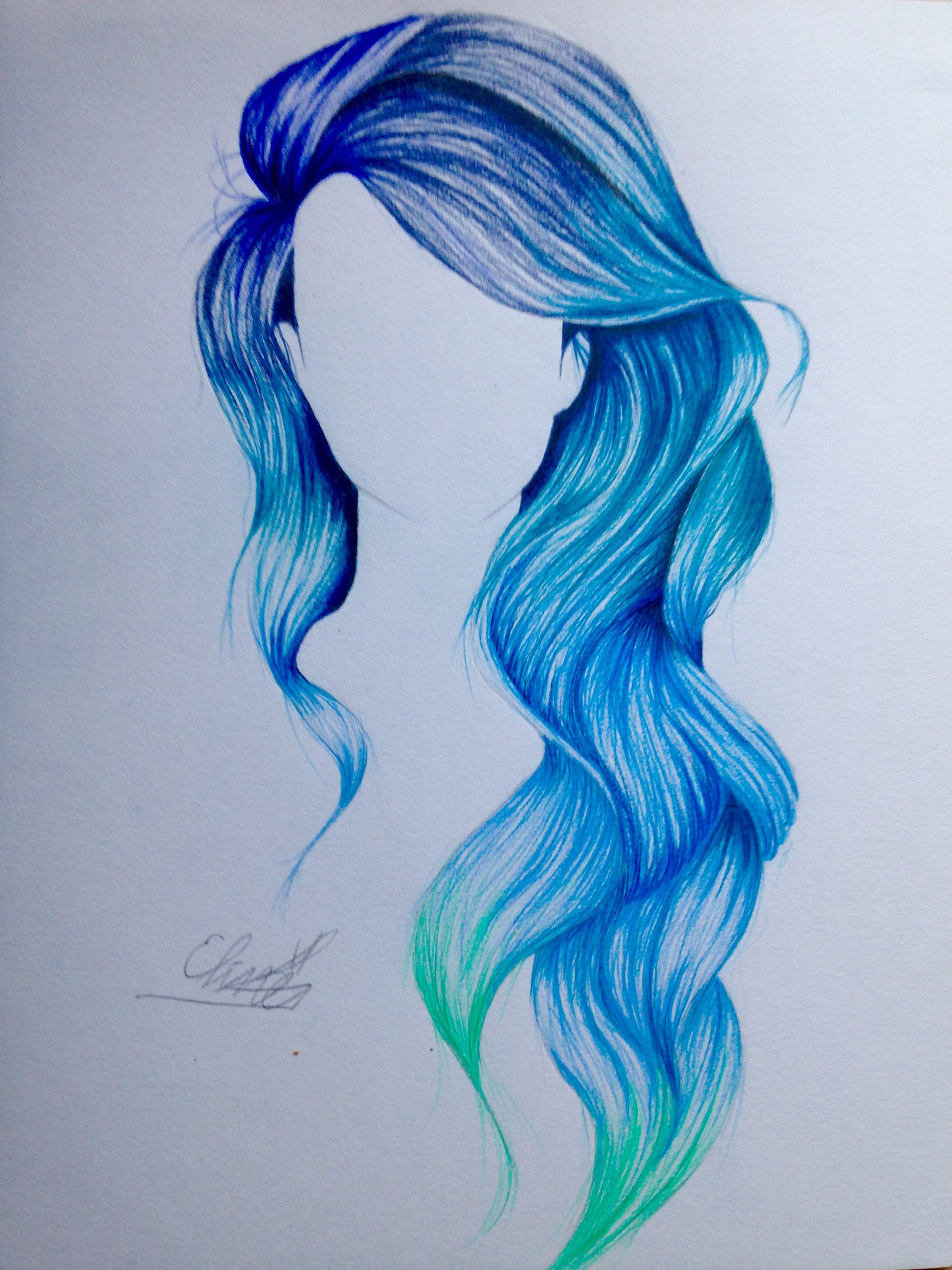 Drawn rainbow fun Ombré hair My fun much