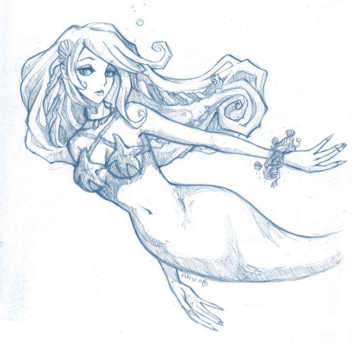Drawn mermaid hard Drawings Pinterest Mermaid images 405