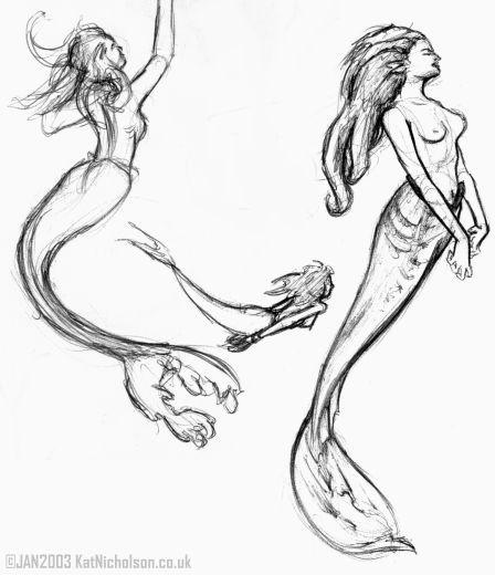 Drawn mermaid hard Drawing on Realistic drawing Best