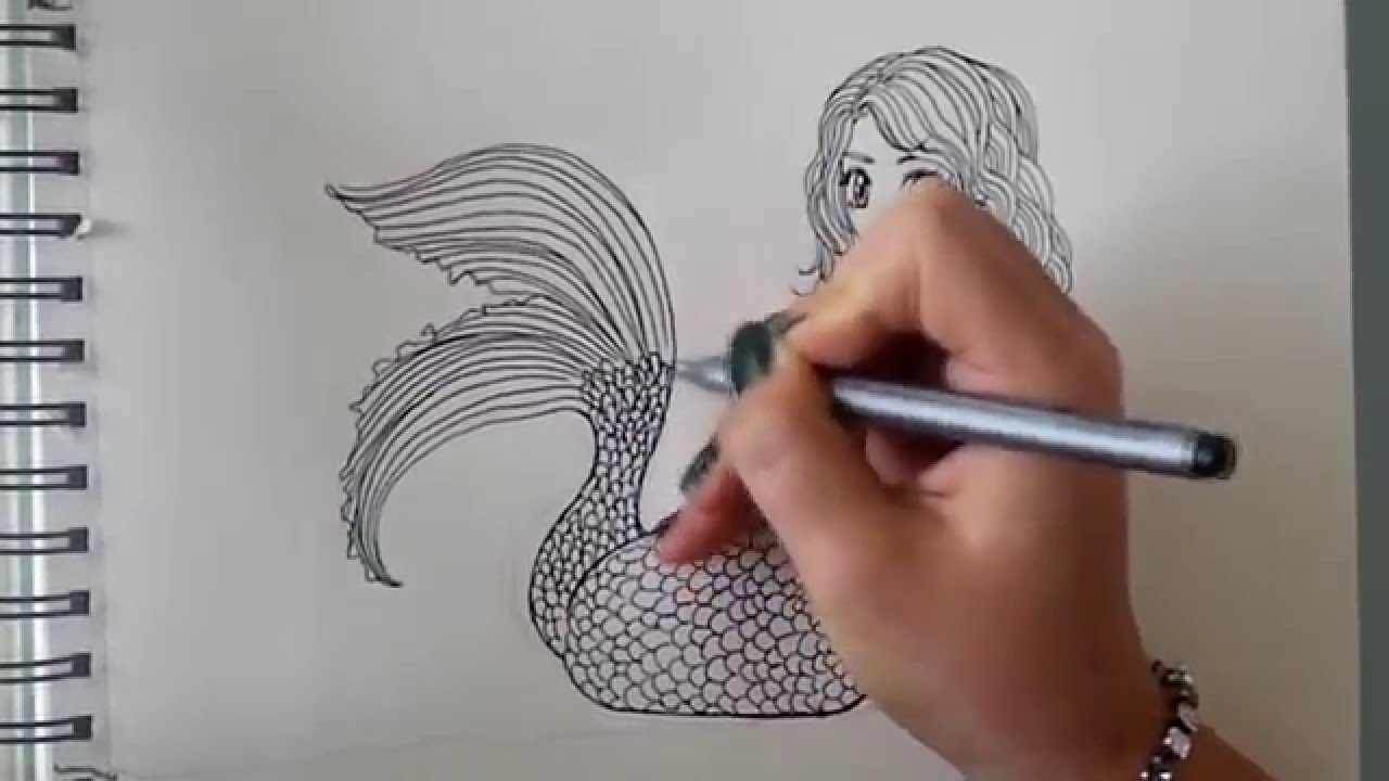Drawn mermaid hard To (requested)  by draw