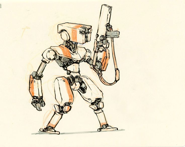 Drawn amd robot Jake 39 by best sketches