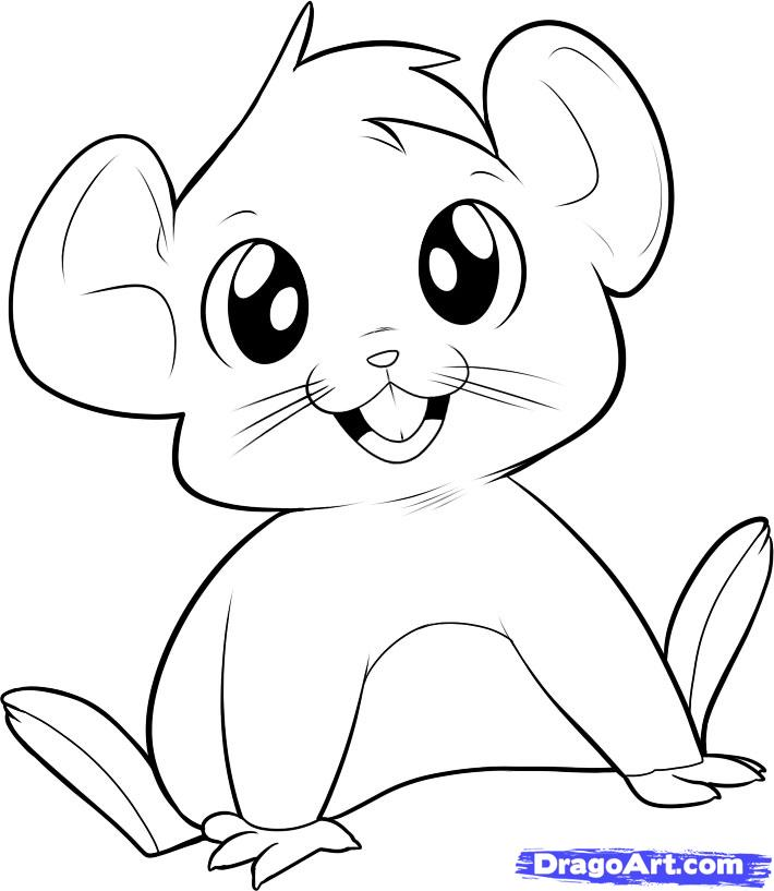 Drawn mice Pets Drawing to Animals how