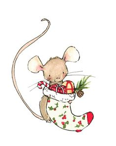 Drawn rodent christmas Art Clip Mouse Mice Clip