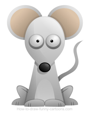 Drawn rodent big ear Cartoon mouse Drawing a mouse