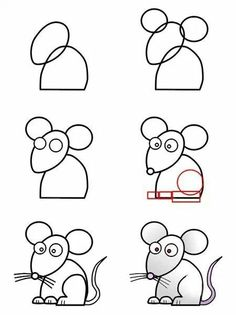 Drawn rat small kid Draw a Resimleri mouse Cartoon