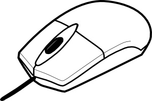 Drawn rodent comp Mouse Computer computer%20mouse%20clipart%20black%20and%20white Outline Clipart