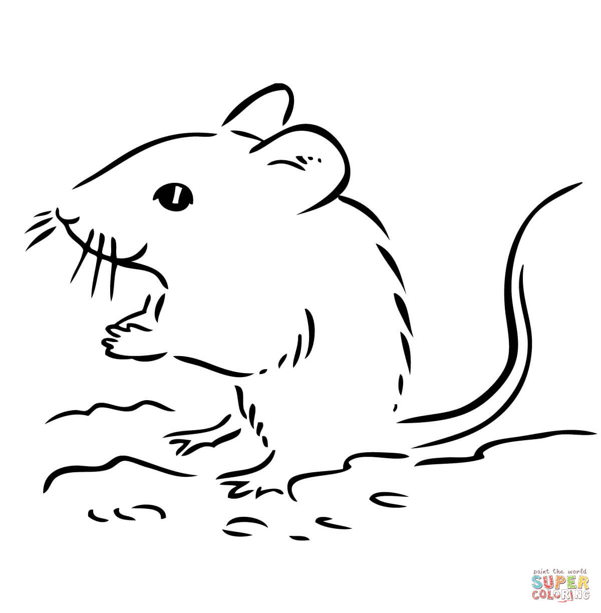 Drawn rodent deer mouse Deer Free Pages Cute coloring