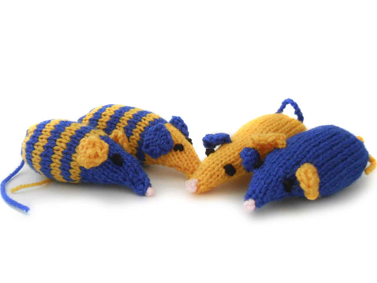 Drawn rodent little mouse Knitted catnip mice Saga mice