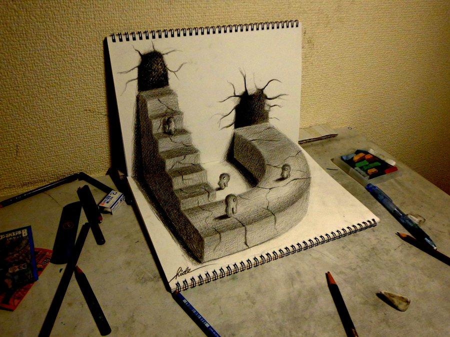 Drawn room pencil drawing 165 on Drawing 3D NAGAIHIDEYUKI