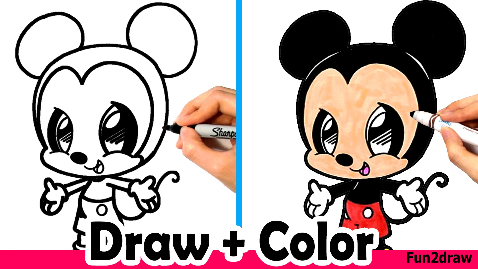 Drawn amd mickey mouse Cute Color How Markers YouTube